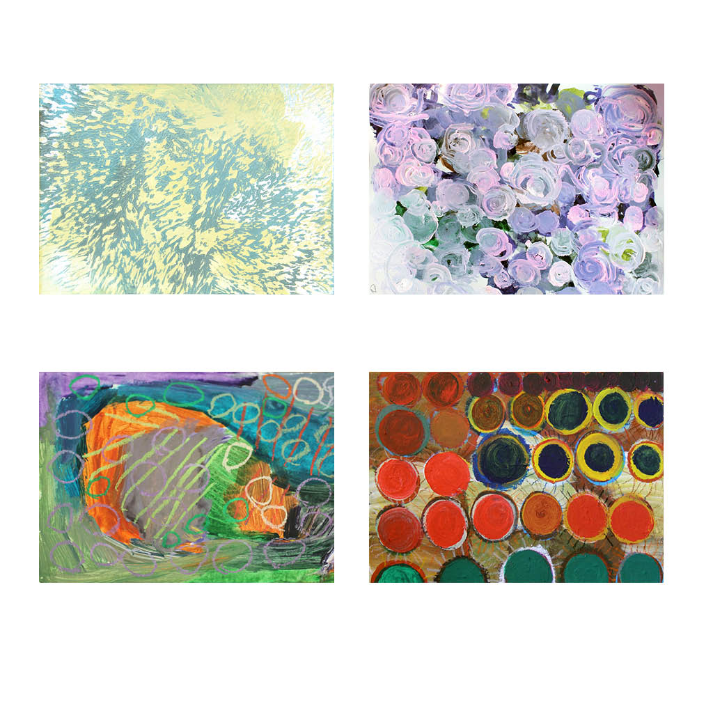 Greeting Cards - Abstract 4 Pack