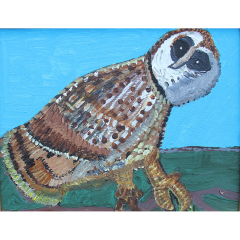 Spotted Owl painting by Bruce Basinet