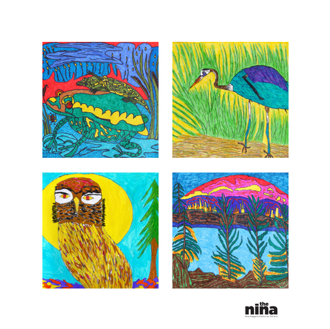 Linda Vincent Square Greeting Card Set