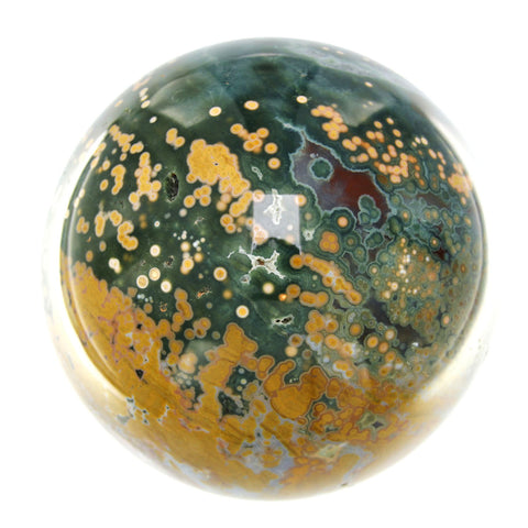 Sea Jasper from Madagascar - a 4-inch, 3-pound Sphere