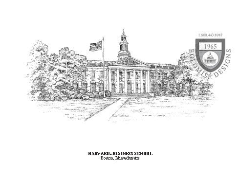 Harvard Business School ~ Antique - Eglomise Designs