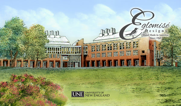 The University Of New England Eglomise Designs