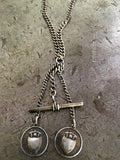 Vintage 2 Silver Medals Necklace