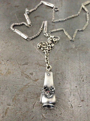 Vintage Ladies Moose Head Cigar Cutter Necklace
