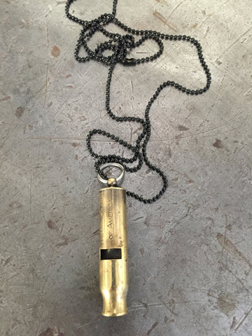 Vintage Boy Scout Whistle Necklace