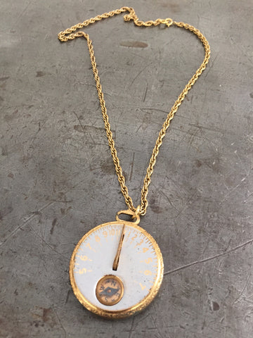 Vintage Girl Scout Sun Dial & Compass Necklace