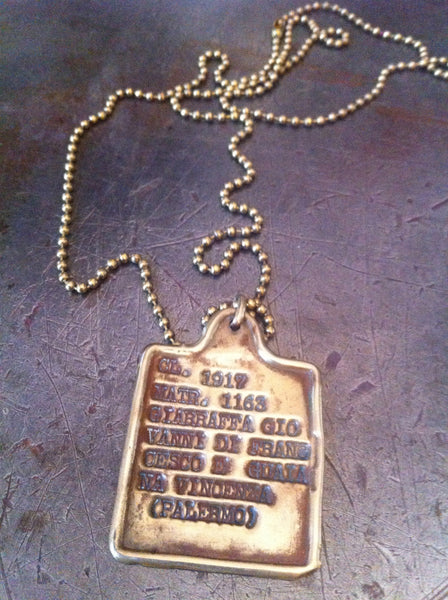 Italian Gold Chain >> Vintage Italian WW1 1917 Dog Tag Necklace – Vintage Jules
