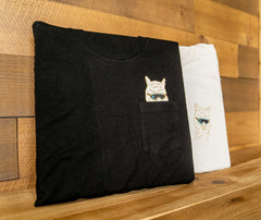 Alpaca Pocket T-Shirt - Black