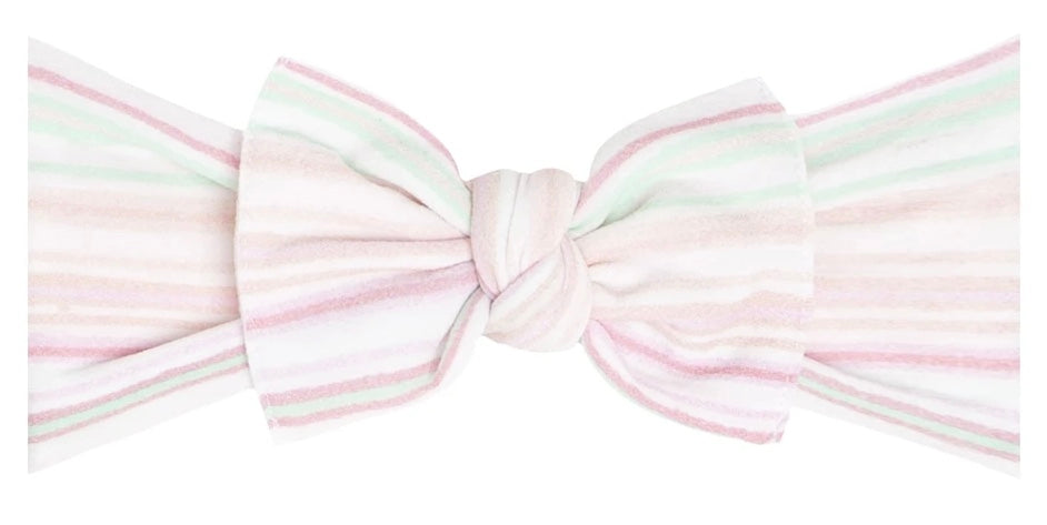 Baby Bling - Printed Knot Headband - Sweet Stripes