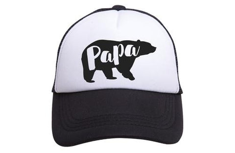 Tiny Trucker Papa Bear - Black/White
