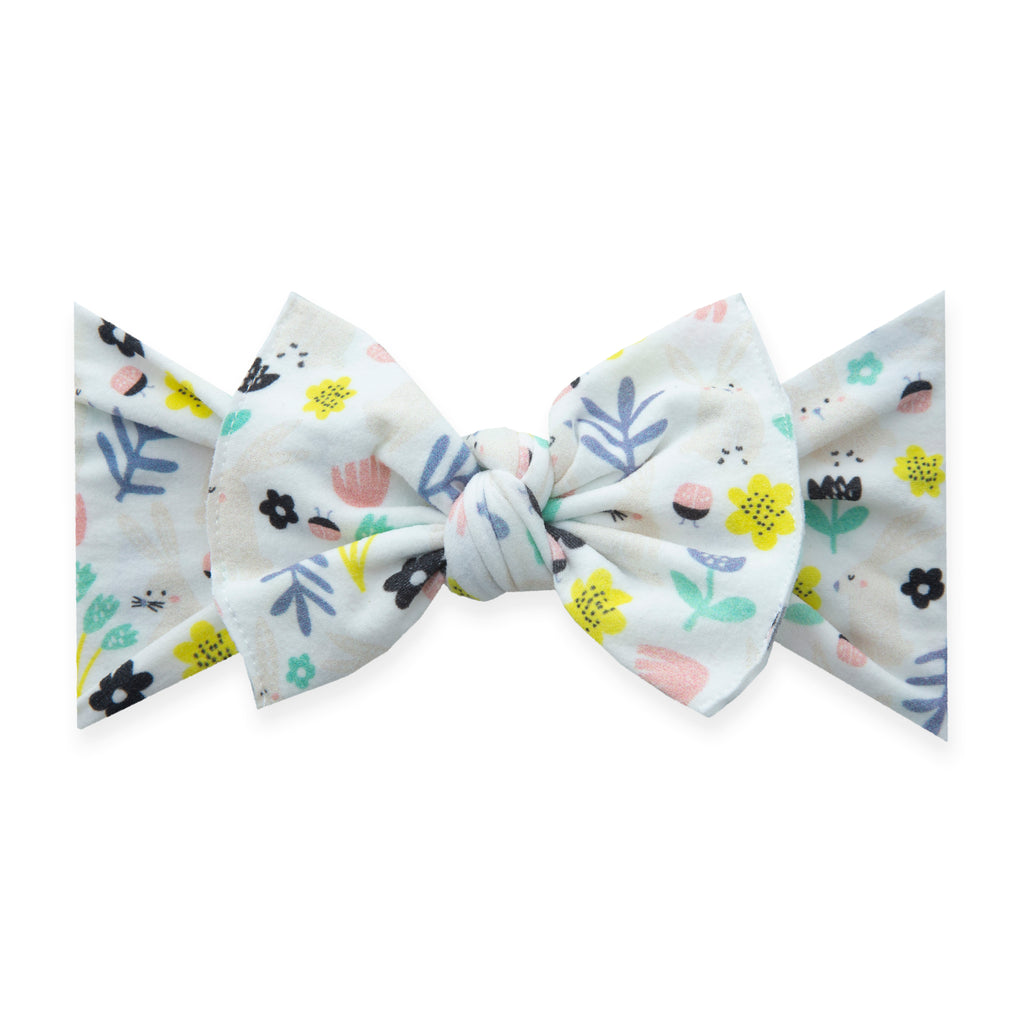 Baby Bling Printed Knot - Hunny Bunny