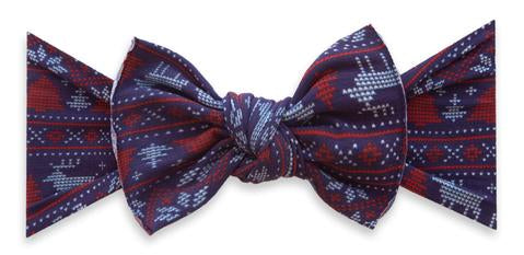 Baby Bling Printed Knot - Blue Fairisle