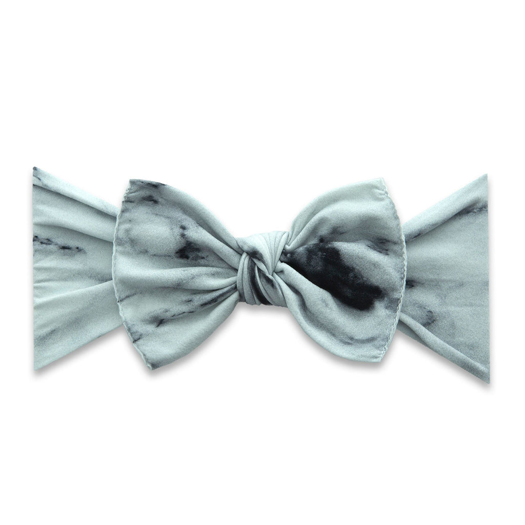 Baby Bling LIMITED EDITION Printed Knot - White Marble