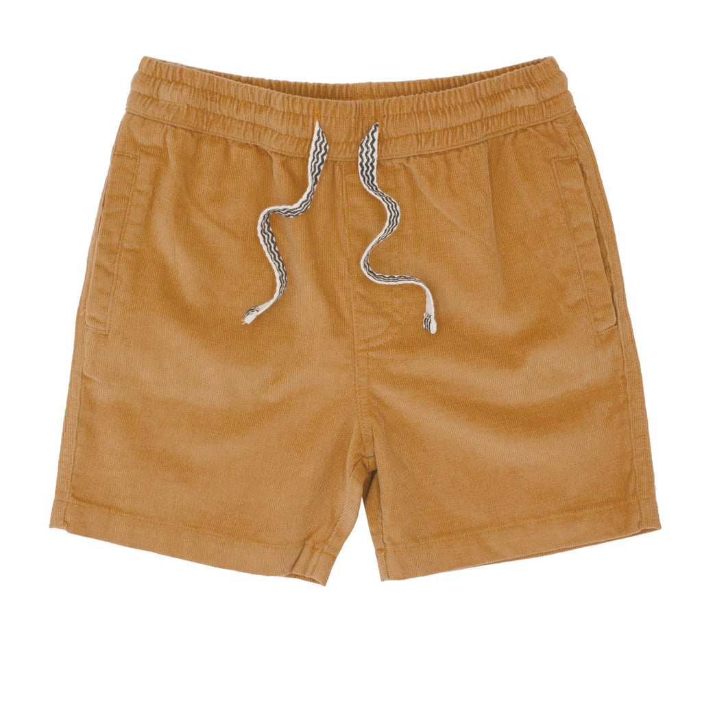 Feather 4 Arrow- Aline Up Pin Corduroy Short-Camel