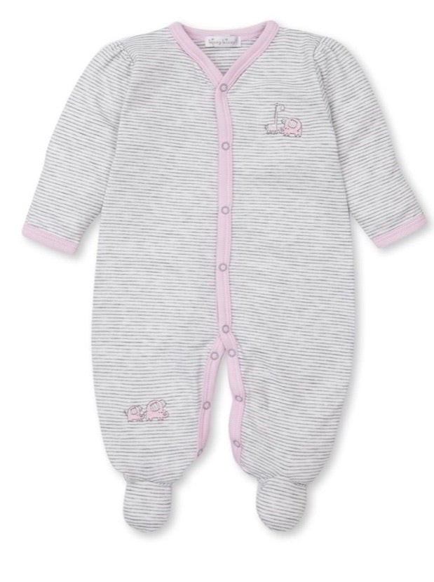 Kissy Kissy Footie-Grey Stripe Sappy Sidekicks