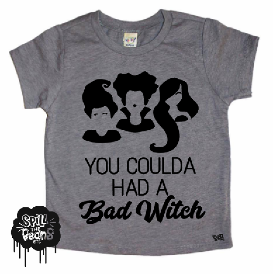 Spill The Beans-Women's Bad Witch Tee - Orange