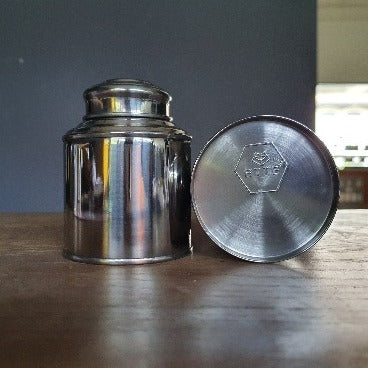 Original Tea Caddy in Silver with Embossed Logo (50g)