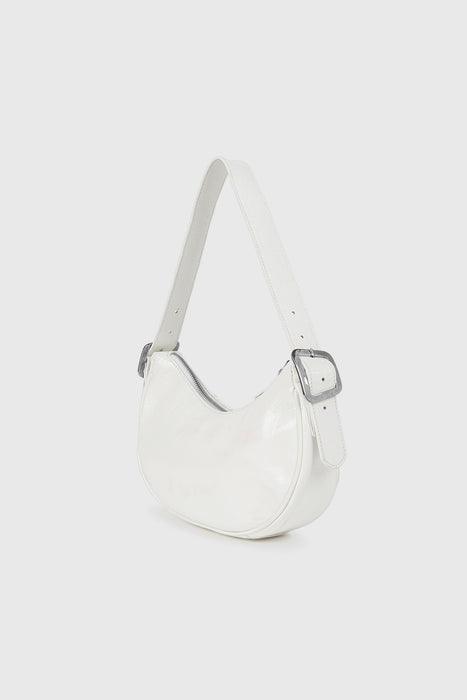 Bean Leather Bag - White