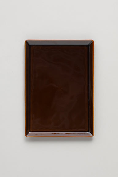 Square Plate - Brown