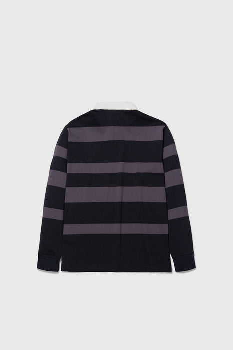 Ruben Polo Block Stripe - Magnet Grey