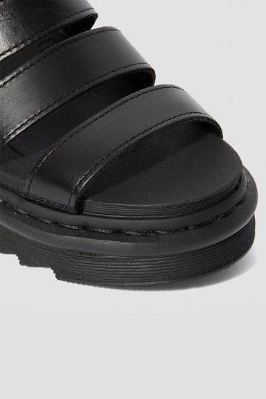 Blaire Leather Sandals - Black Brando