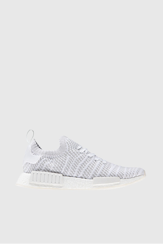 Adidas Originals Nmd R1 Stlt Primeknit White Grey One Solar Pink