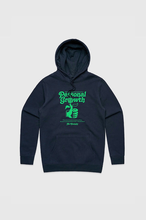 Personal Growth Hoodie - Navy/Green