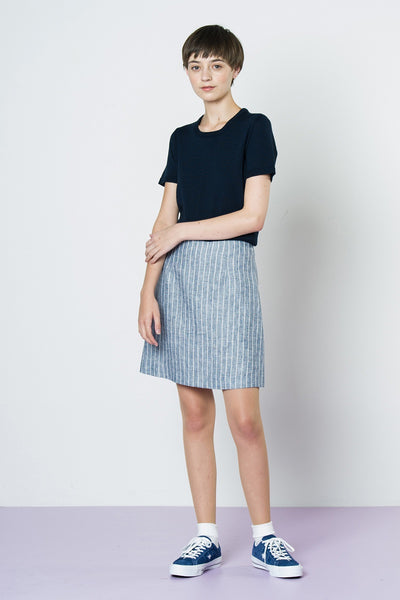 Embry Hills Mini - Chambray Stripe