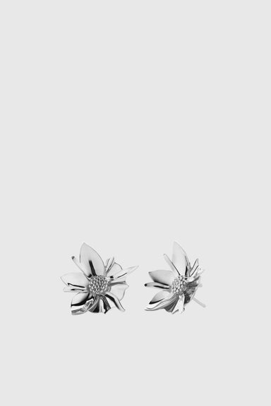 Wildflower Earrings Medium - Silver