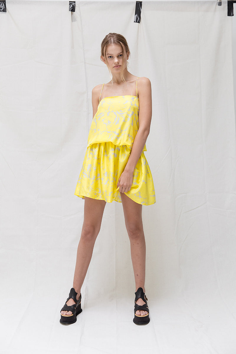 Manipura Dress - Yellow Print
