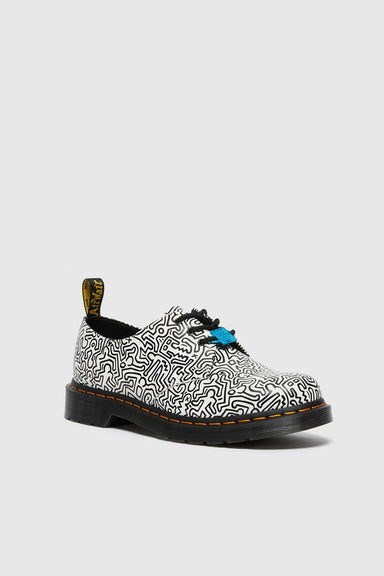Dr. Martens x Keith Haring 1461 Leather Shoes - White Smooth