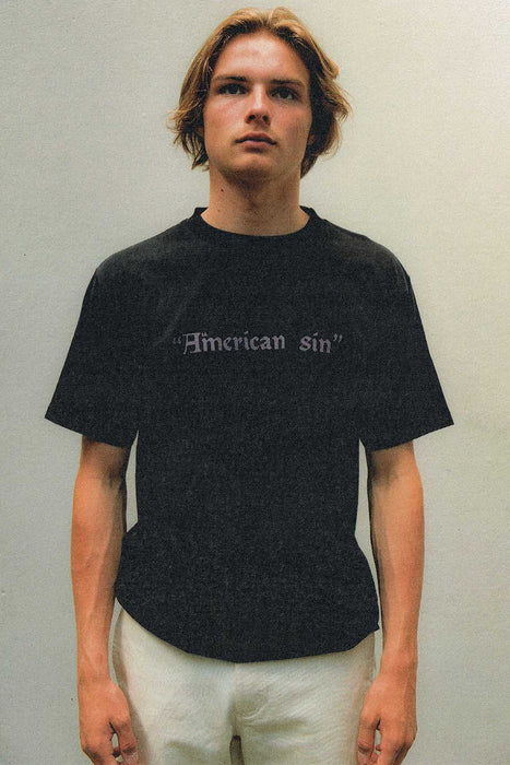 American Sin Tee - Washed Black