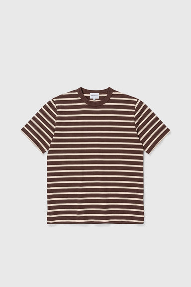 Holger SS Compact Cotton Bold Stripe - Heathland Brown
