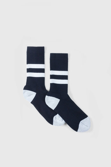 No. 014 - Dark Navy / White Stripe