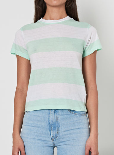 Big Stripe Tee - Freshmint