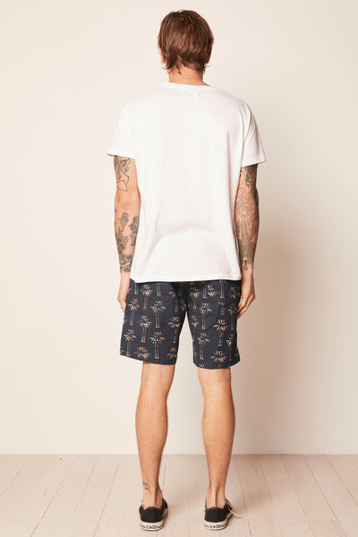 Beach Boy Short - 3D Palm Black