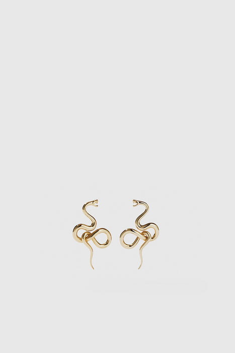 Medusa Earrings Medium - Gold Plated