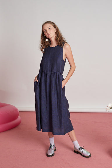 Harbour Dress - Navy
