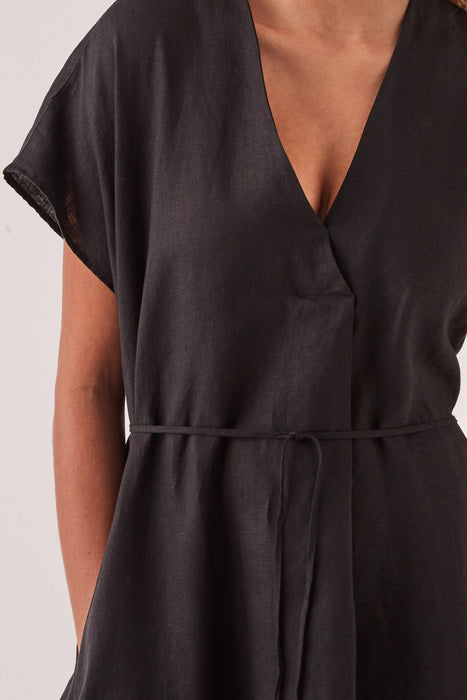 Freya Linen Dress - Black