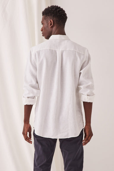 Casual Long Sleeve Shirt - White