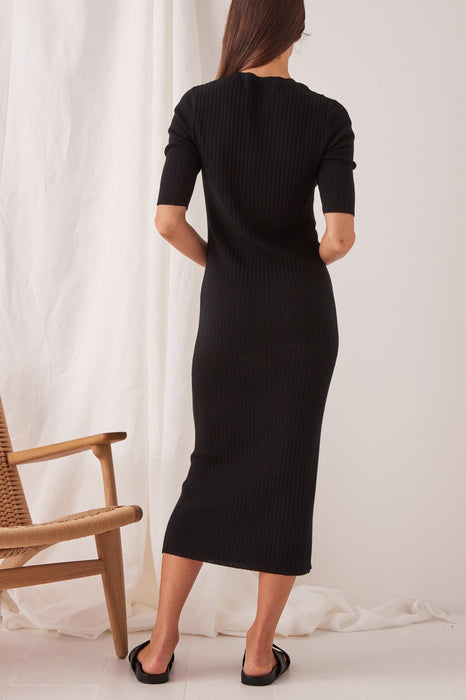 Ella Midi Dress - Black
