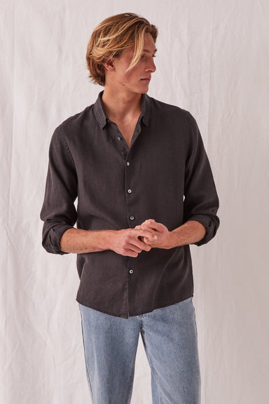 Casual Long Sleeve Shirt - Black