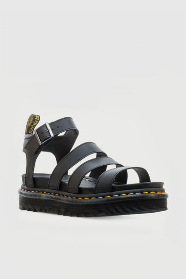 Blaire Leather Sandals - Black Hydro