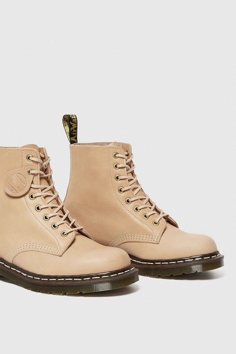 1460 Pascal Essex Veg Tan Leather Boots - Natural