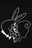 Short Sleeve Rabbit T-Shirt - Black / White