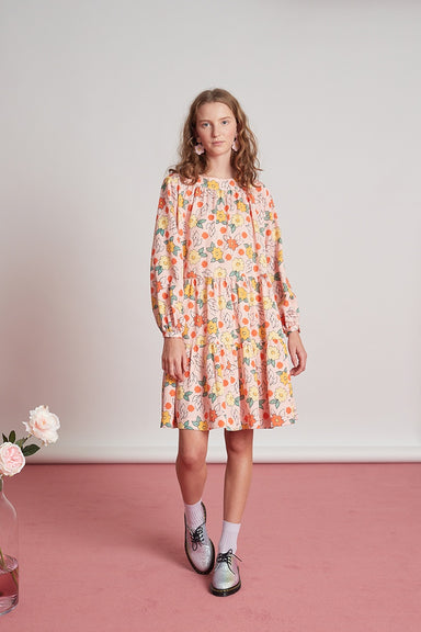 Glenmore Dress - Pink Vivid Floral