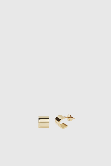 Cuff Stud Earrings - Gold Plated