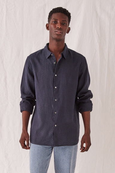 Casual Long Sleeve Shirt - True Navy