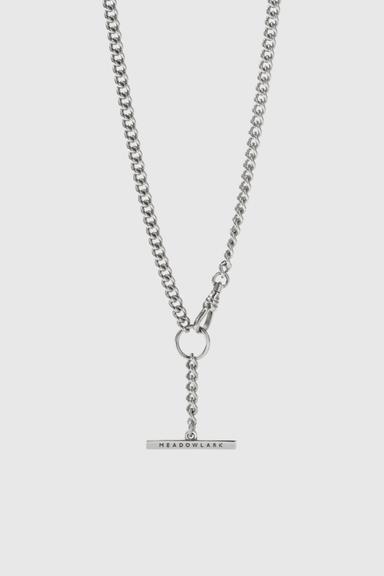 Fob Chain Necklace - Sterling Silver
