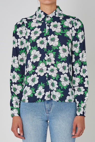 Datura Slim Blouse - Navy